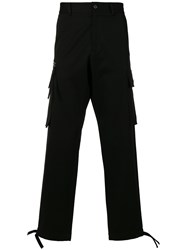 Versace Multi Pocket Trousers Black