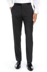 Ted Baker London Josh Flat Front Wool And Mohair Tuxedo Pants