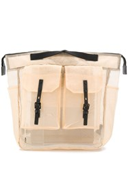 Ally Capellino Frank Sheer Backpack Neutrals