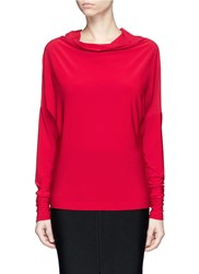 Norma Kamali 'All In One Mini' Convertible Jersey Skirt Top Red