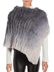 La Fiorentina Sheared Rabbit Fur Shawl Brown