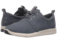 Toms Del Rey Sneaker Castlerock Grey Nubuck Women's Lace Up Casual Shoes Gray