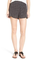 Women's Bp. Print Swing Shorts Black Offset Stripe Geo