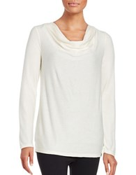Marc New York Knit Cowlneck Top Ivory