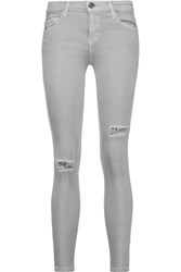 Current Elliott The Stiletto Mid Rise Skinny Jeans Gray