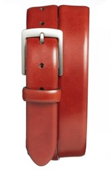Men's Bosca Leather Dress Belt Cognac Old Leather