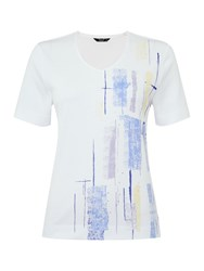 Tigi Short Sleeve Placement Print Top White