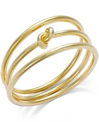 Alfani Knot Bangle Bracelet Set Gold