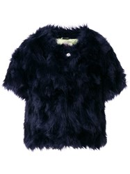 Shrimps Sofia Faux Fur Jacket Blue