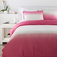 Surya Dip Dyed Duvet Cover Raspberry Twin Pink