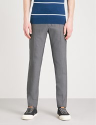 Slowear Tapered Wool Trousers Charcoal