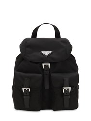 Prada Mini Nylon Backpack Black