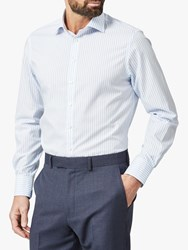 Chester Barrie By Bengal Stripe Shirt Blue