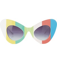 Jeremy Scott Colour Bar Cat Eye Sunglasses Colour Bars