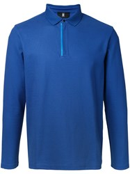 Kent And Curwen Long Sleeve Polo Shirt Blue