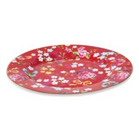 Pip Studio Chinese Rose Plate Red