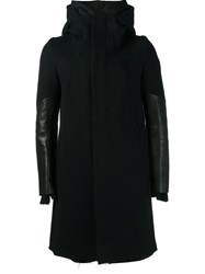 The Viridi Anne Hooded Coat Black