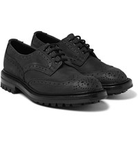 Tricker's Bourton Nubuck Brogues Black