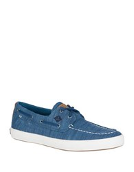 Sperry Wahoo Textured Slip On Boat Shoes Blue