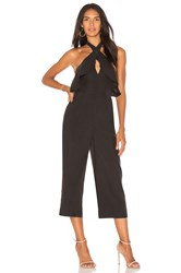 Bcbgeneration Ruffle Halter Jumpsuit In Black