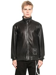 Mcq By Alexander Mcqueen Mcq Alexander Mcqueen Perforated Nappa Leather Bomber Jacket