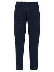 J.W. Brine Daryl 76 Cotton Blend Fatigue Trousers Navy