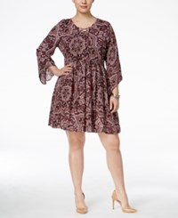 American Rag Trendy Plus Size Peasant Dress Only At Macy's Classic Black Combo