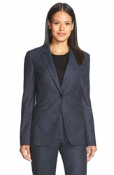 Boss 'Jamoli' One Button Tweed Blazer Anthracite Fantasy