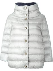 Herno Puffer Coat Nude And Neutrals