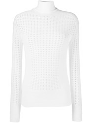 L'autre Chose Turtle Neck Top White