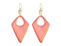 Alexis Bittar Pointed Pyramid Drop Earrings Sweet Melon