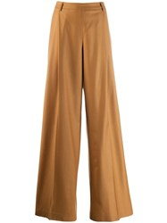 Fabiana Filippi Wide Leg Tailored Trousers Brown