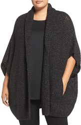 Melissa Mccarthy Seven7 Plus Size Women's Shimmer Knit Open Front Cardigan