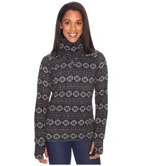 Obermeyer Brandi Fleece Top Black Snowflake Print Women's Fleece