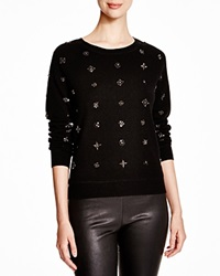 C By Bloomingdale's Embellished Cashmere Sweater Black