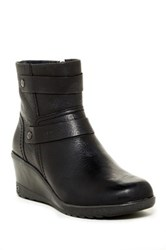Keen Kate Leather Wedge Bootie Black