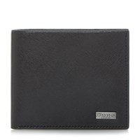 Dune Osmar Saffiano Leather Wallet Black
