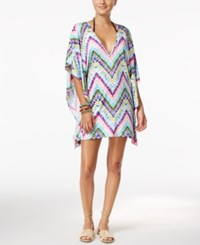 Bar Iii Dana Tie Dyed Caftan Coverup Only At Macy's Women's Swimsuit Tie Dye Multi