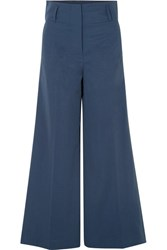 By Malene Birger Kekoa Crepe Wide Leg Pants Navy