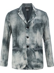 Avant Toi Faded Effect Blazer Hemp Grey