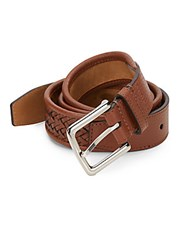 Cole Haan Braided Leather Belt British Tan