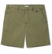 Boglioli Stretch Cotton Bermuda Shorts Green