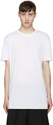 Thamanyah White Cotton T Shirt
