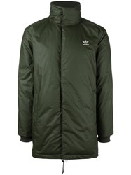Adidas Mid Length Padded Coat Green