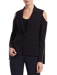 Crosley Slit Detail Cold Shoulder Blazer Black