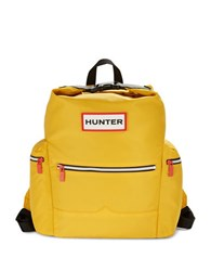 Hunter Top Handle And Clip Nylon Backpack Yellow