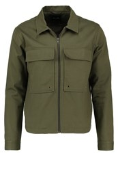 Only And Sons Onsbecks Denim Jacket Olive Night Dark Green