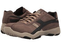 Skechers Classic Fit Larson Almelo Chocolate Leather Men's Shoes Brown