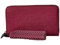 Rebecca Minkoff Tech Wallet With Wristlet Soft Berry Handbags Neutral