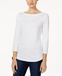 Charter Club Boat Neck Shoulder Button Top Only At Macy's Rain